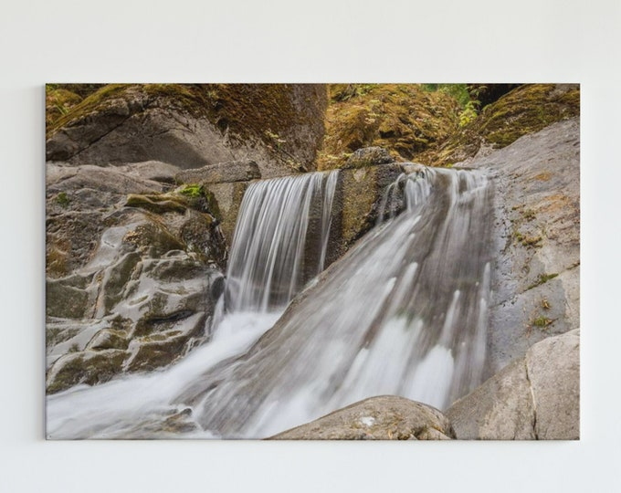 Waterfall Photography Print and Canvas Wall Art
