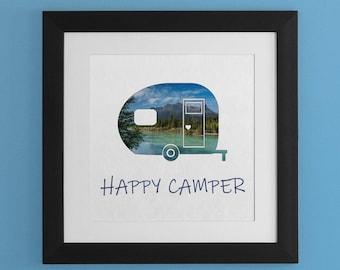 Happy Camper Wall Art