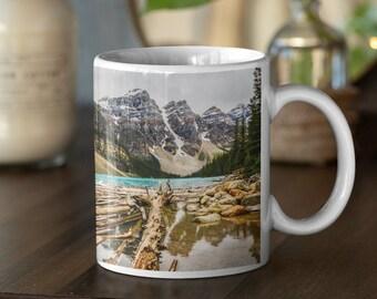 Mountain Mug Nature Mug Coffee Mug Ceramic Mug Landscape Mug Gift for Him Gift for Her Nature Lover Travel Gift Banff Gift Rustic Decor