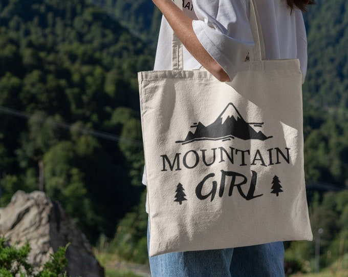 Mountain Girl Tote Bag