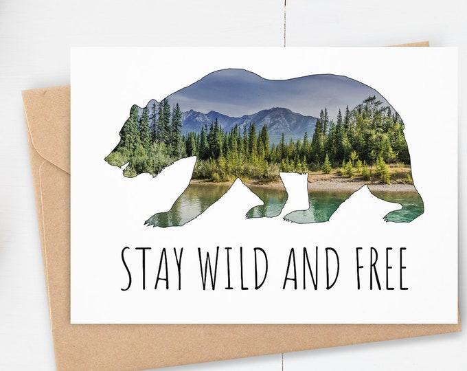 Mountain Bear Card