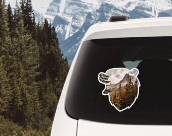 Rustic Bear Sticker