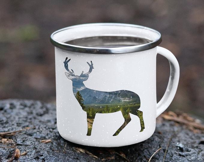 Deer Enamel Camping Mug