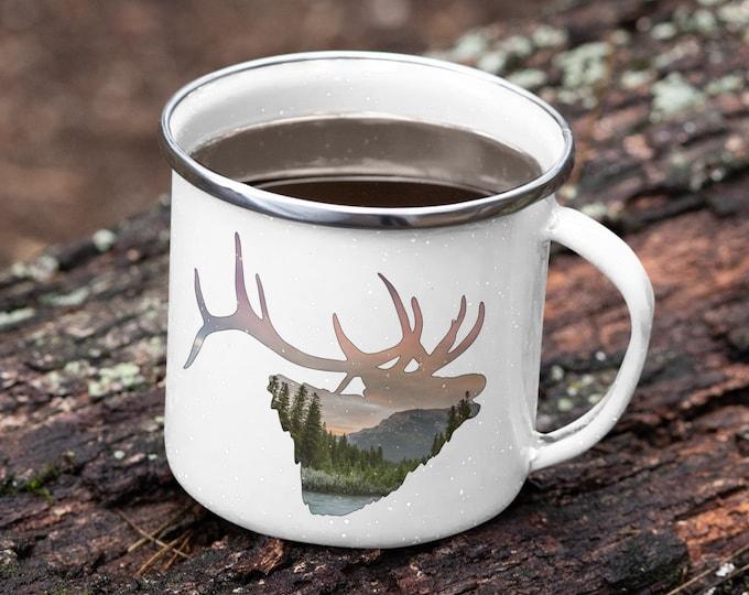 Rocky Mountain Elk Enamel Mug