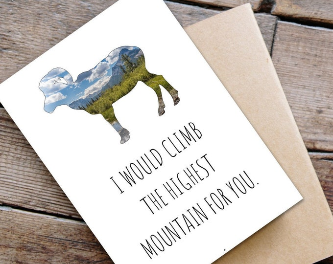 Big Horn Sheep Greeting Card