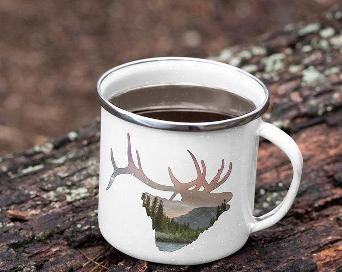 Elk Enamel Camping Mug