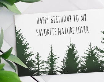 Nature Lover Birthday Card