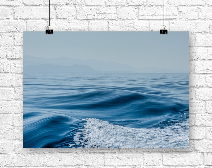 Ocean Photography Print, Ocean Wall Art, Nautical Home Decor, Canvas Wall Art