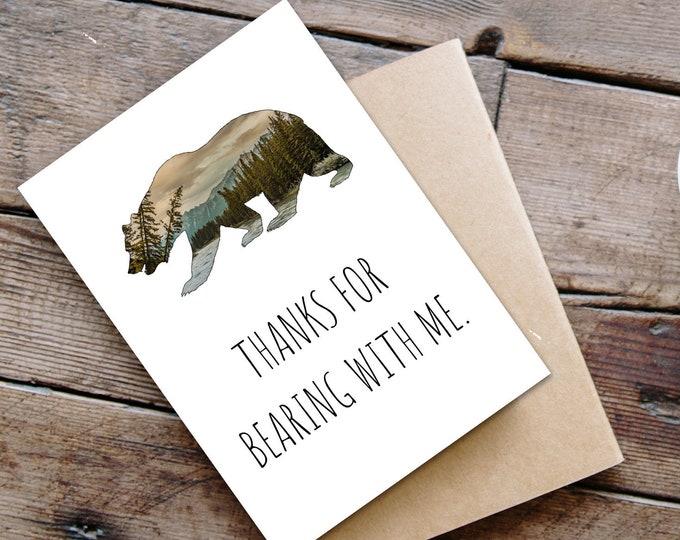 Funny Bear Card