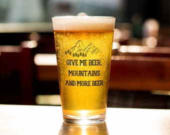 Mountain Beer Glass