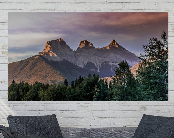 Rustic Mountain Wall Art