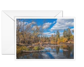 Blank Autumn Greeting Card