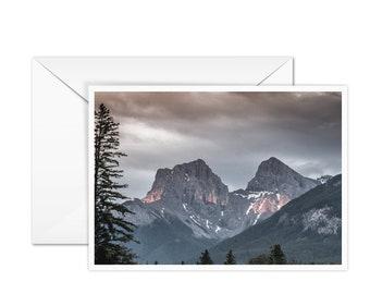 Blank Rustic Mountain Card