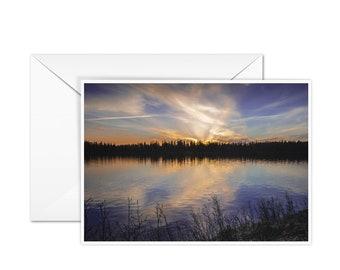 Blank Lake Greeting Card