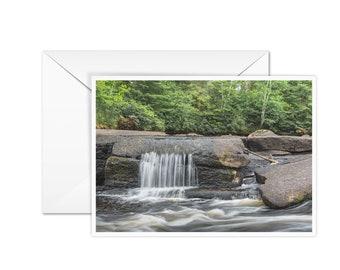 Blank Waterfall Greeting Card