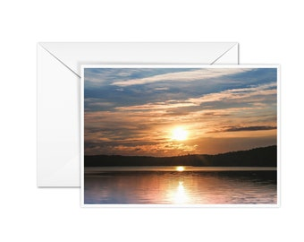 Blank Sunset Card
