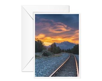 Blank Mountain Sunrise Card