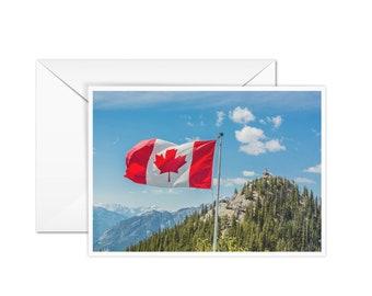 Blank Canada Flag Card