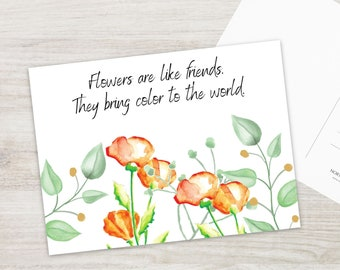 Flower Postcard Set
