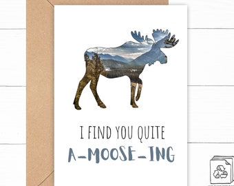 Moose Love Card