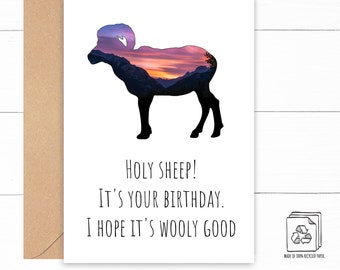Big Horn Sheep Birthday Card