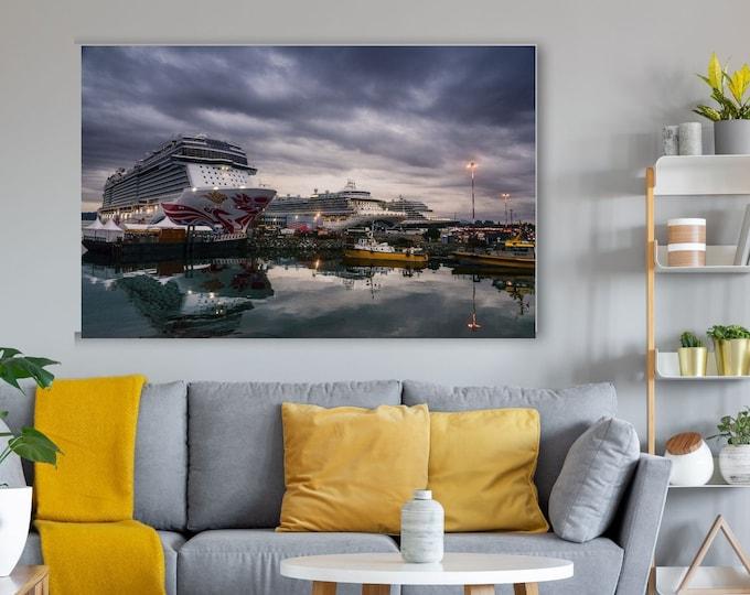 Cruise Ships Canvas Print