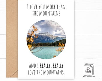 Mountain Love Card