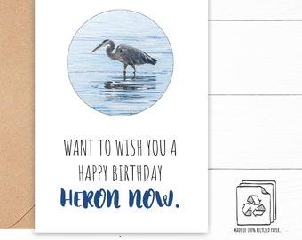 Heron Birthday Card