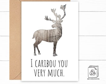 Caribou Love Card