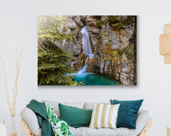 Banff Waterfall Canvas Print