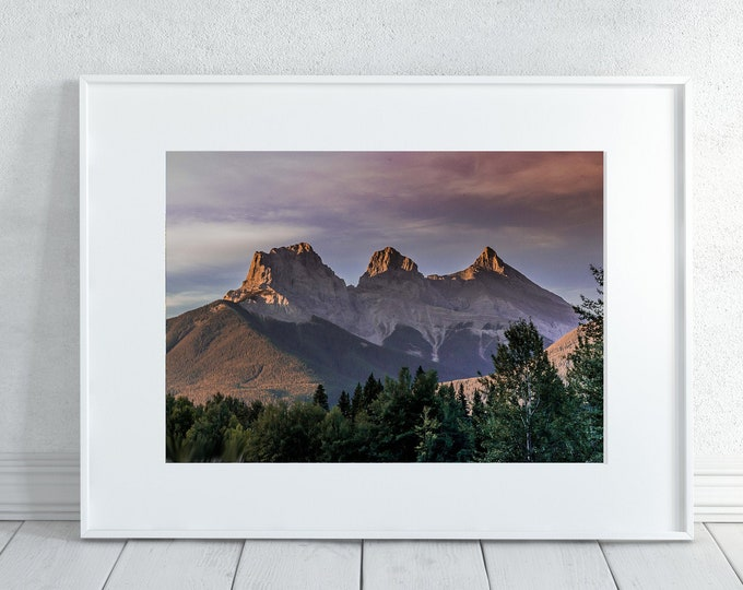 Mountain Sunrise Canvas Wall Art