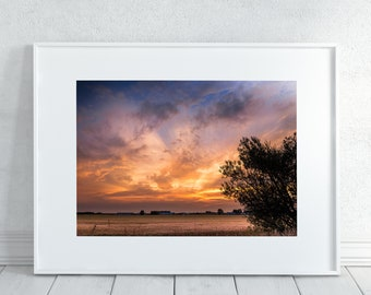 Sunset over the Prairies Photography Print