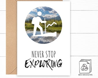Hiking Birthday Card