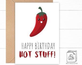 Chili Pepper Birthday Card