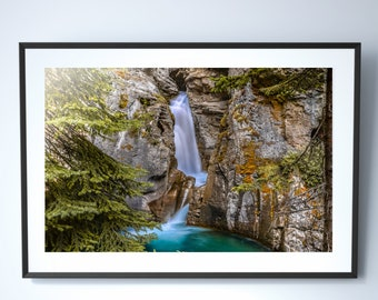 Banff Waterfall Photography Print