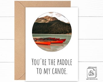 Canoe Love Card