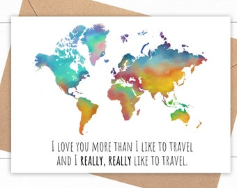 Travel Anniversary Card