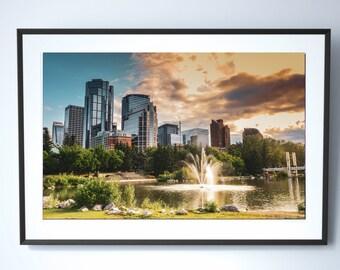 Calgary Skyline Photography Print