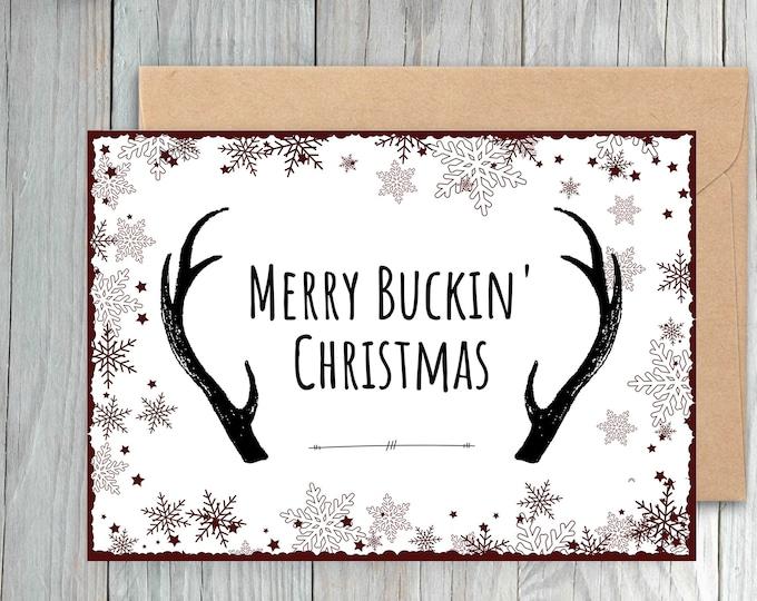 Antler Christmas Card