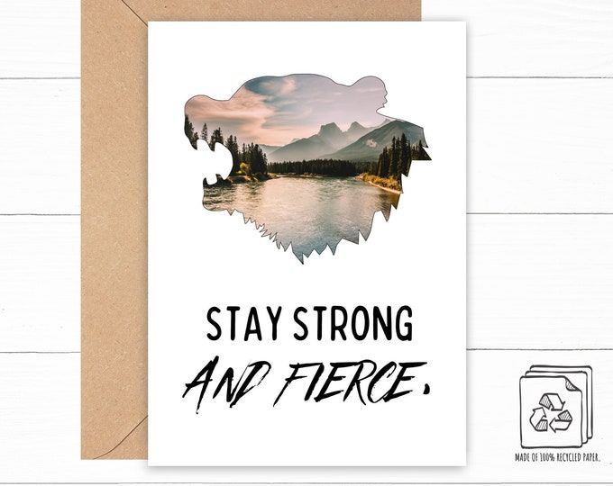 Stay Strong and Fierce Card