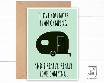 Funny Camping Love Card