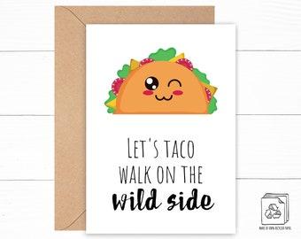Funny Taco Love Card