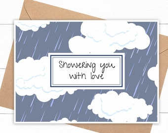 Rain Clouds Love Card
