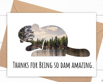 Beaver Thank You Card