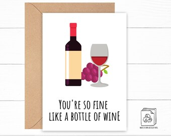 Funny Wine Love Card