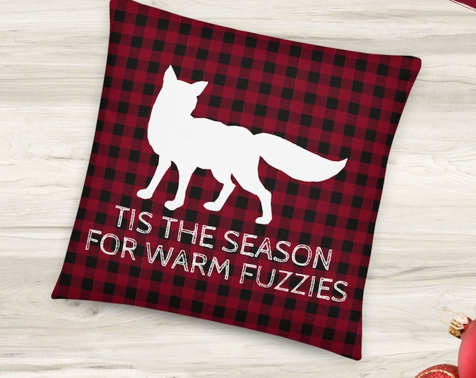 Fox Christmas Pillow