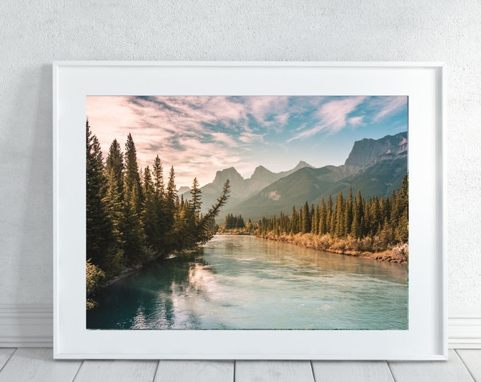 Featured listing image: Turquiose Mountain Wall Art