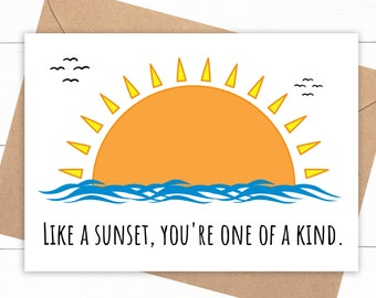 Sunset Love Card