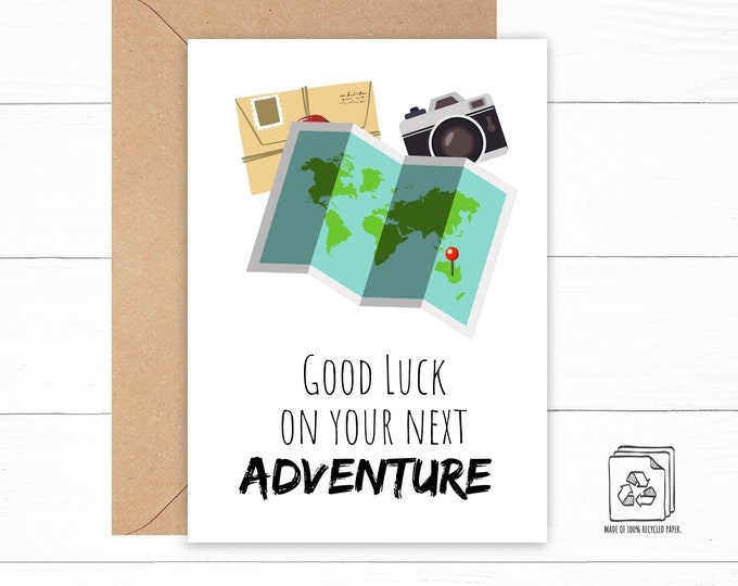 Good Luck on Your Next Adventure Card