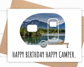 Happy Camper Birthday Card